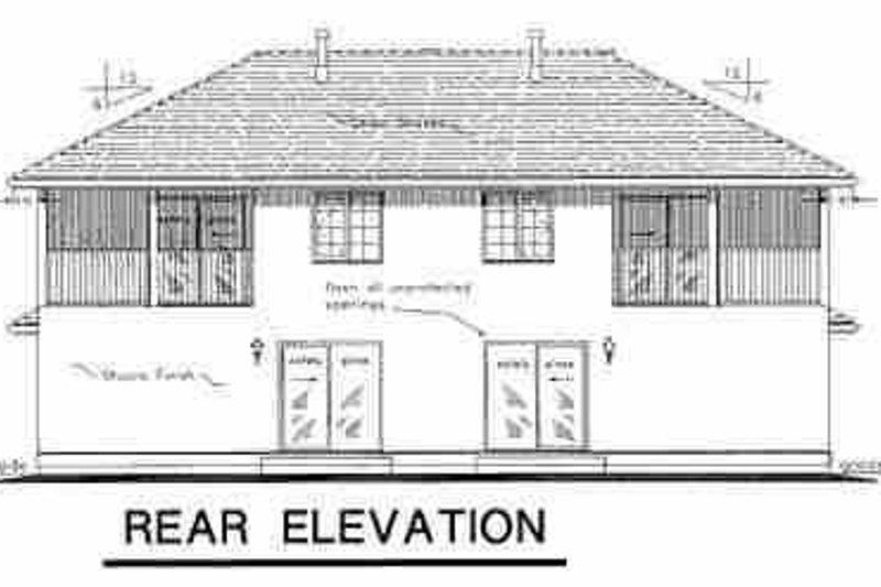 Traditional Exterior - Rear Elevation Plan #18-239 - Houseplans.com