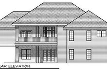 Dream House Plan - Traditional Exterior - Rear Elevation Plan #70-865