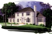 European Style House Plan - 5 Beds 3 Baths 2296 Sq/Ft Plan #56-171 Exterior - Front Elevation