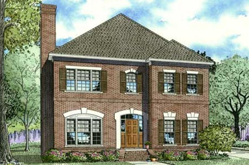 Traditional Style House Plan - 3 Beds 3 Baths 2760 Sq/Ft Plan #17-2286 Exterior - Front Elevation