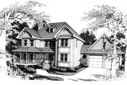 Victorian Style House Plan - 4 Beds 2.5 Baths 2418 Sq/Ft Plan #10-208 Exterior - Front Elevation