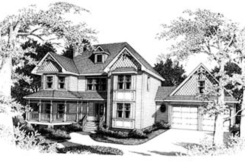 Victorian Style House Plan - 4 Beds 2.5 Baths 2418 Sq/Ft Plan #10-208