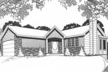 Ranch Exterior - Front Elevation Plan #58-105