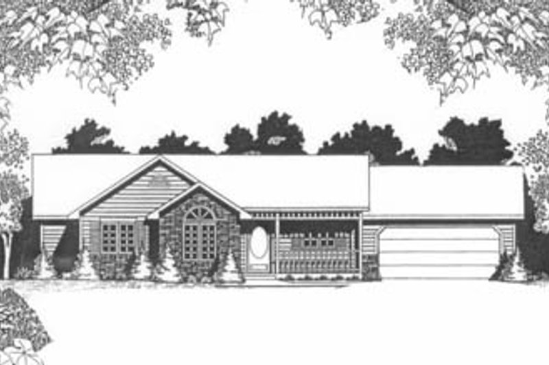 Ranch Exterior - Front Elevation Plan #58-127