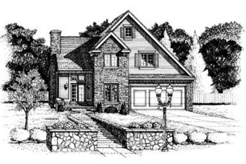 European Exterior - Front Elevation Plan #20-511 - Houseplans.com