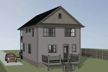 Southern Exterior - Rear Elevation Plan #79-229