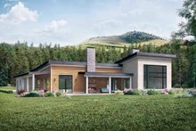 Home Plan - Modern Exterior - Rear Elevation Plan #924-15