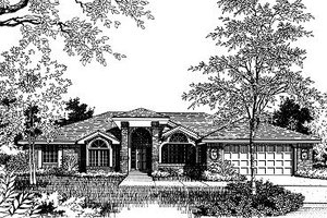 Modern Exterior - Front Elevation Plan #417-235