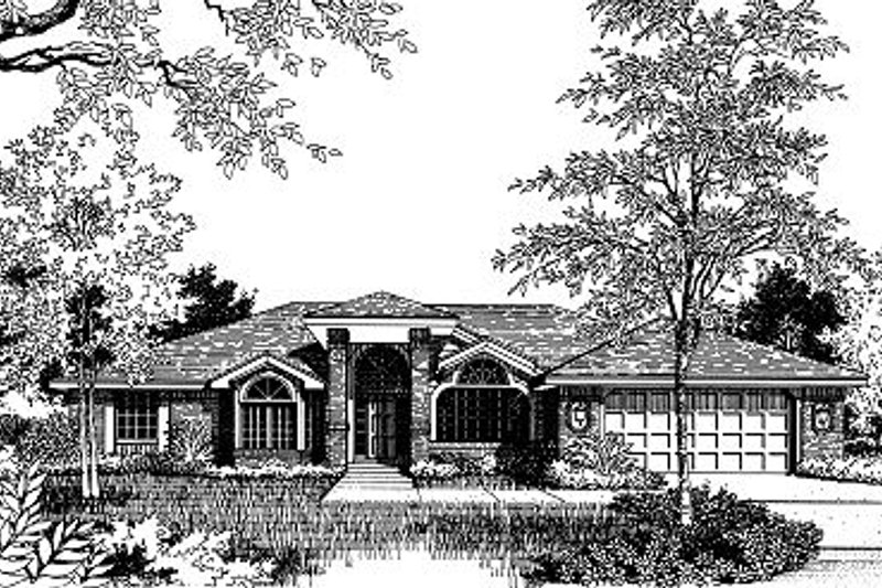 Modern Style House Plan - 4 Beds 3 Baths 2321 Sq/Ft Plan #417-235 Exterior - Front Elevation