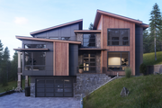 Contemporary Style House Plan - 4 Beds 5.5 Baths 5553 Sq/Ft Plan #1066-37 Exterior - Front Elevation