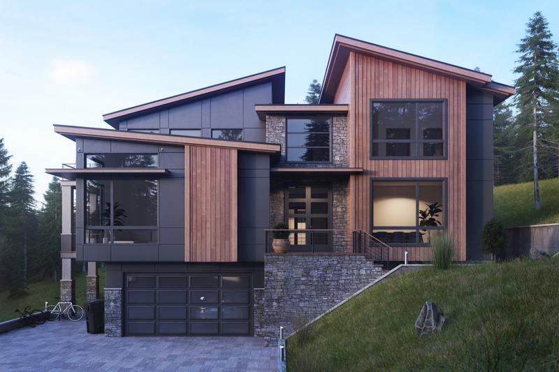 House Plan Design - Contemporary Exterior - Front Elevation Plan #1066-37