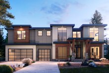House Plan Design - Contemporary Exterior - Front Elevation Plan #1066-104