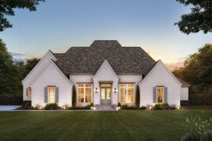 Country Exterior - Front Elevation Plan #1074-46