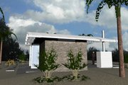 Modern Style House Plan - 1 Beds 1 Baths 449 Sq/Ft Plan #535-7 Exterior - Other Elevation
