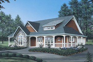 Farmhouse Exterior - Front Elevation Plan #57-178