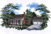 Traditional Style House Plan - 3 Beds 2 Baths 1406 Sq/Ft Plan #41-110 Exterior - Front Elevation
