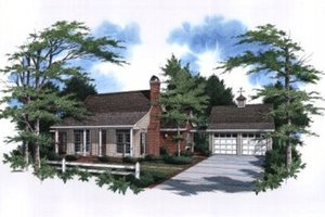 Architectural House Design - Traditional Exterior - Front Elevation Plan #41-110