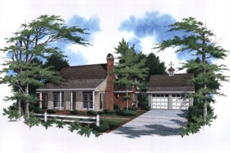 Traditional Exterior - Front Elevation Plan #41-110 - Houseplans.com