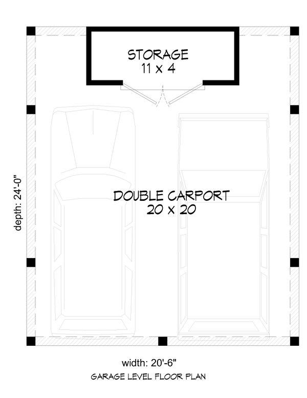 Traditional Floor Plan - Main Floor Plan #932-357