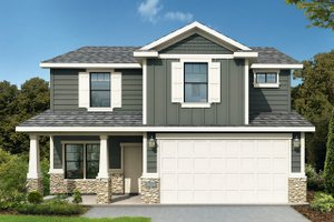 House Plan Design - Traditional Exterior - Front Elevation Plan #1073-9