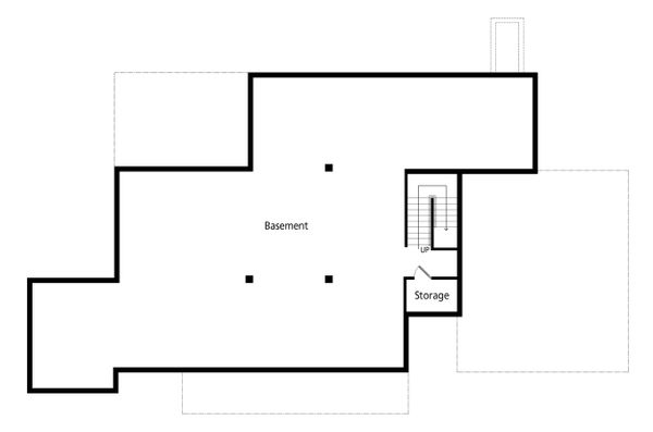 House Blueprint - Farmhouse Floor Plan - Lower Floor Plan #938-109
