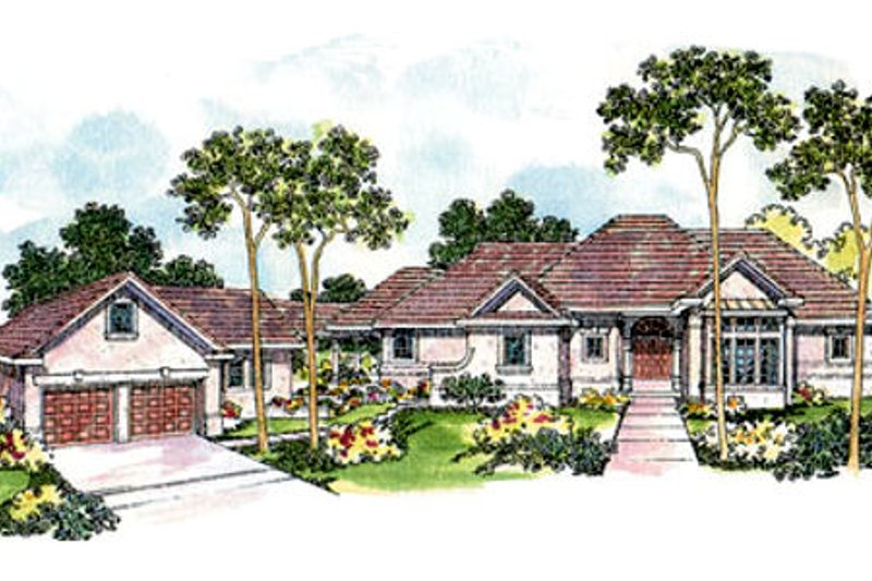 Mediterranean Exterior - Front Elevation Plan #124-420