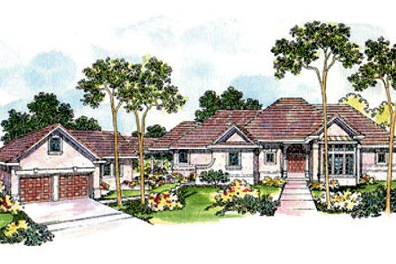 Dream House Plan - Mediterranean Exterior - Front Elevation Plan #124-420