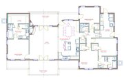 Ranch Style House Plan - 4 Beds 3 Baths 2374 Sq/Ft Plan #408-102 Floor Plan - Main Floor Plan
