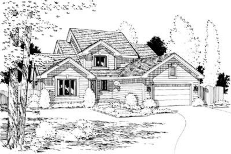 Traditional Exterior - Front Elevation Plan #20-652 - Houseplans.com