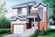 Modern Style House Plan - 3 Beds 1.5 Baths 1497 Sq/Ft Plan #25-4230 Exterior - Front Elevation