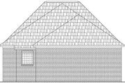 Southern Style House Plan - 3 Beds 2 Baths 1650 Sq/Ft Plan #21-157 Exterior - Rear Elevation