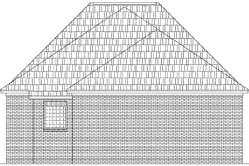 Southern Exterior - Rear Elevation Plan #21-157 - Houseplans.com