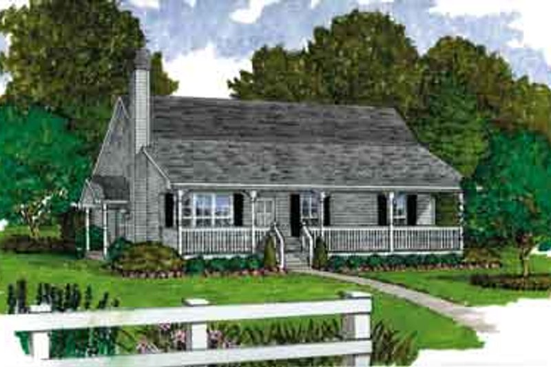 House Blueprint - Country Exterior - Front Elevation Plan #47-644