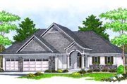 European Style House Plan - 2 Beds 2 Baths 1750 Sq/Ft Plan #70-668 Exterior - Front Elevation