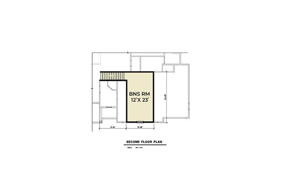 Farmhouse Floor Plan - Upper Floor Plan Plan #1070-32