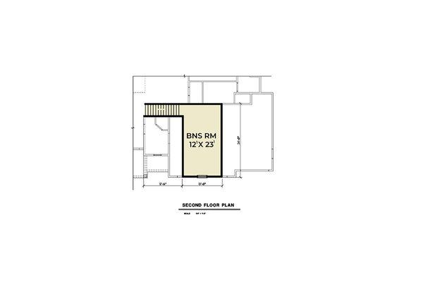 Farmhouse Floor Plan - Upper Floor Plan Plan #1070-32