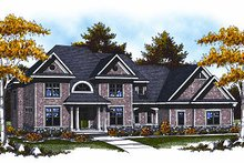 Home Plan - European Exterior - Front Elevation Plan #70-888