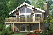 Cabin Style House Plan - 2 Beds 1 Baths 1907 Sq/Ft Plan #25-4523 Exterior - Front Elevation