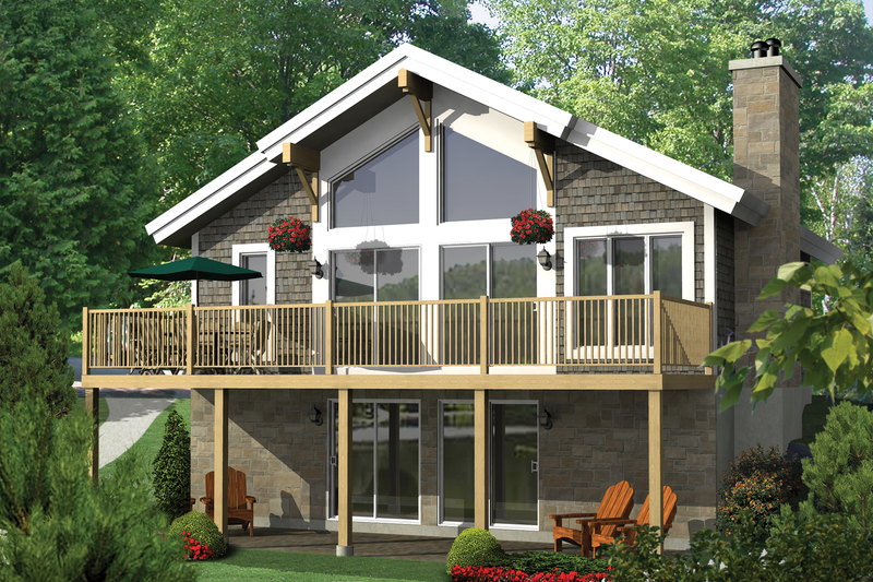 Cabin Style House Plan - 2 Beds 1 Baths 1907 Sq/Ft Plan #25-4523
