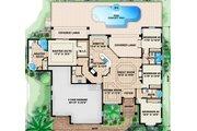 European Style House Plan - 4 Beds 3 Baths 2464 Sq/Ft Plan #27-436 Floor Plan - Main Floor Plan