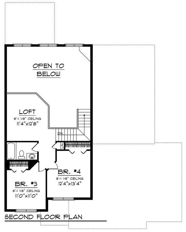 Home Plan - Traditional Floor Plan - Upper Floor Plan #70-1246