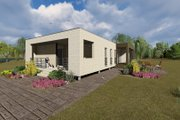 Modern Style House Plan - 3 Beds 2 Baths 1418 Sq/Ft Plan #549-4 Exterior - Front Elevation
