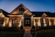 Craftsman Style House Plan - 4 Beds 4.5 Baths 5810 Sq/Ft Plan #437-96 Exterior - Covered Porch