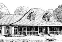 Southern Exterior - Front Elevation Plan #410-182