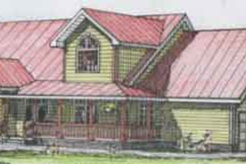 Country Exterior - Front Elevation Plan #117-232 - Houseplans.com
