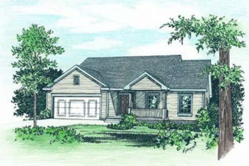 Traditional Exterior - Front Elevation Plan #20-421