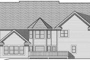 European Style House Plan - 4 Beds 3.5 Baths 3687 Sq/Ft Plan #70-638 Exterior - Rear Elevation