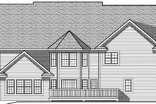 European Exterior - Rear Elevation Plan #70-638