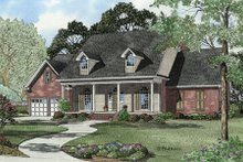 House Design - Country Exterior - Front Elevation Plan #17-2093