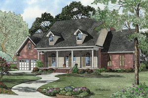 Country Exterior - Front Elevation Plan #17-2093